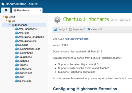Highcharts extension (update) – Sencha style API & tutorial
